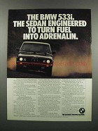 1983 BMW 533i Ad - Turn Fuel into Adrenalin