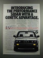 1983 BMW 318i Car Ad - A Genetic Advantage