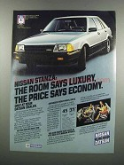 1983 Nissan Stanza Car Ad - Room Says Luxury