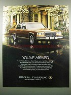 1984 Cadillac Car Ad - You've Arrived