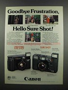 1983 Canon Super Sure Shot and Sure Shot Cameras Ad