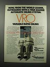 1983 Johnson 90 and 235 VRO Outboard Motors Ad