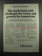 1983 T. Rowe Price Ad - Stock Fund with Dividends