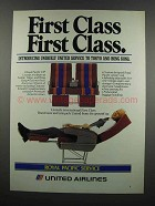 1983 United Airlines Ad - First Class First Class