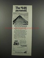 1983 TWA Airlines Ad - The $648 Pyramid