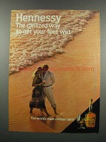 1983 Hennessy Cognac Ad - Get Your Feet Wet