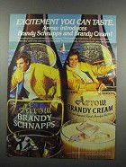 1983 Arrow Brandy Schnapps and Brandy Cream Ad