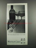 1983 Mouton-Cadet Wine Ad - Discerning People