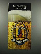 1983 St. Pauli Girl Beer Ad - You Never Forget