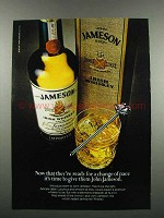 1983 Jameson Irish Whiskey Ad - Now That They're Ready