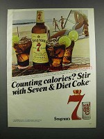 1983 Seagram's Seven Crown Whisky Ad - Calories?
