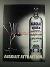 1983 Absolut Vodka Ad - Absolut Attraction