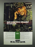 1983 U.S. Army Ad - Take Something Valuable to College