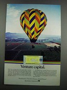 1983 BankAmerica Travelers Cheques Ad - Venture Capital