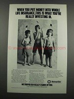 1983 Metropolitan Life Insurance Ad - You're Investing