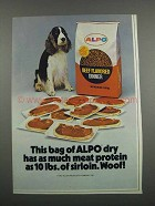 1983 Alpo Beef Flavored Dinner Dog Food Ad