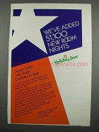 1983 Holiday Inn Austin North Ad - Added Room Nights
