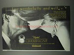 1983 Monteil Champagne Perfume Ad - Live Wonderfully