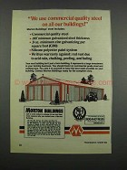 1983 Morton Buildings Ad - Commercial Quality Steel