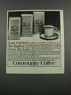 1983 Community Coffee Ad - Some You Sample