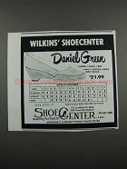 1983 Wilkins' Shoecenter Daniel Green Shoes Ad