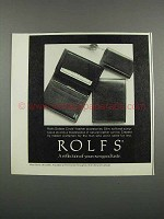 1983 Rolfs Golden Circle Leather accessories Ad
