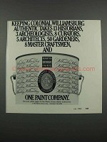 1983 Martin Senour Paints Ad - Colonial Williamsburg