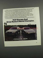 1983 Porsche and Audi Cars Ad - A World Champion