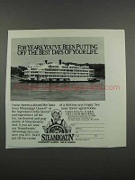 1983 Delta Queen Steamboat Co. Ad - Best Days of Life