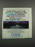 1983 Costa Cruise Ad - Come With Us