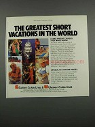 1983 Eastern Cruise Lines and Western Cruise Lines Ad