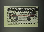 1983 Carl Heald Super Bronc and Super Tryke Advertisement