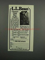1983 L.L. Bean Chamois Cloth Shirt Ad