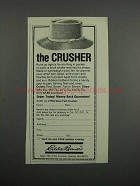 1983 Eddie Bauer Wool Felt Crusher Hat Ad