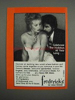 1983 Frederick's of Hollywood Ad - Celebrate Holidays