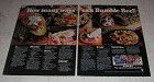 1983 Bumble Bee Salmon, Tuna, Baby Clams & Oysters Ad