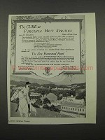 1918 The Homestead Hotel Ad - The Cure at Virginia