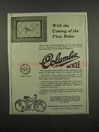 1920 Columbia Bicycles Ad - Coming of the First Robin