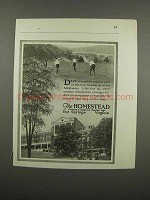1920 The Homestead Resort Ad - Healthful Outdoor Sport