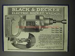 1924 Black & Decker Electric Socket Wrench Ad