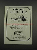 1925 Royal Mail Steam Packet Co. Ad - Your Trip