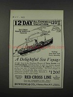 1925 Red Cross Line Ad - A Delightful Sea Voyage