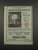 1925 Italian Line Cruise Ad - To the Mediterranean