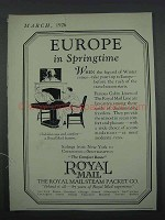 1926 Royal Mail Steam Packet Co. Ad - Europe