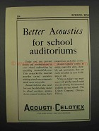 1929 Acousti-Celotex Tiles Ad - For School Auditoriums