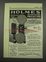1929 Holmes Motion Picture Projector Ad - Assembly Hall