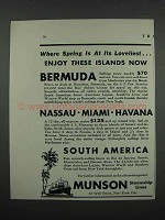 1931 Munson Steamship Lines Ad - Spring at Loveliest