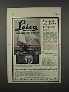 1932 E. Leitz Leica Camera Ad - Snapped With