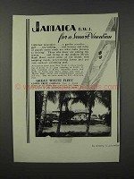 1932 United Fruit Co. Great White Fleet Ad - Jamaica