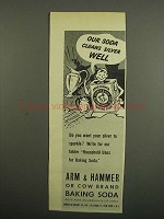 1949 Arm & Hammer Baking Soda Ad - Cleans Silver Well